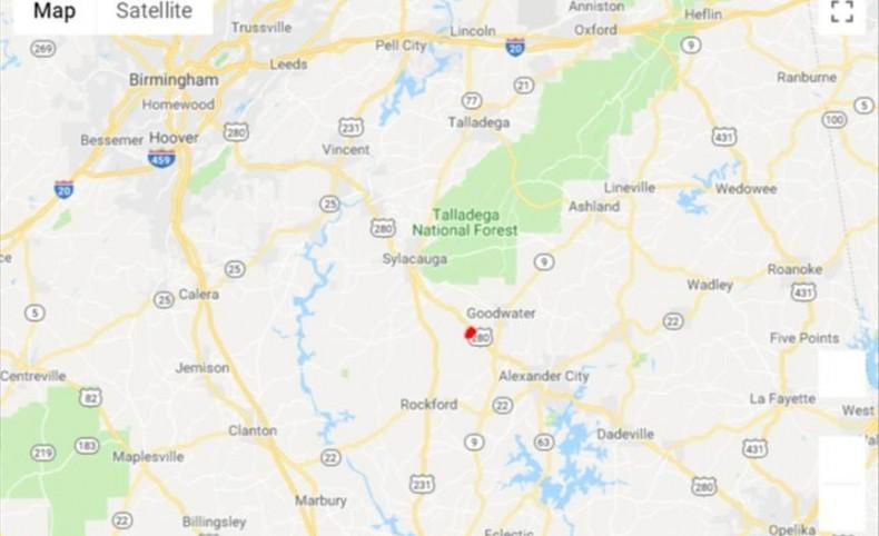 324 acres in Coosa Co., AL close to Sylacauga