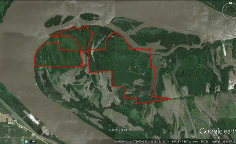 1289 Acres- Incredible Mississippi River hunting land in Ridgley, TN.