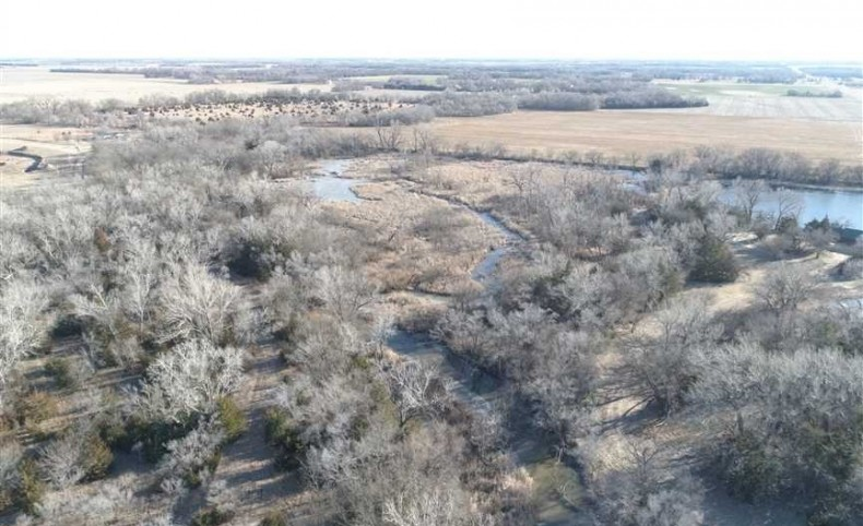 75+/- Acres of Recreational Paradise and Log Cabin in Reno Co, Kansas!