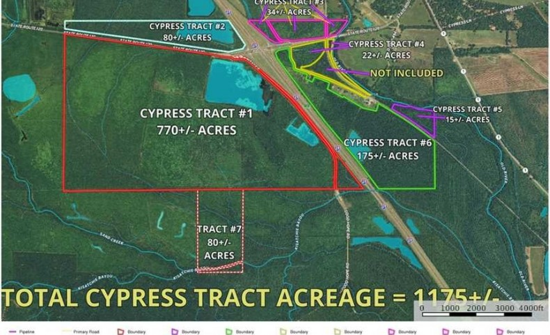 Cypress Tract, Natchitoches Parish, 1175 Acres +/-