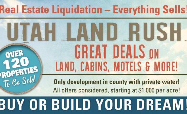 Utah Land Liquidation - Over 120 Properties To Be Sold