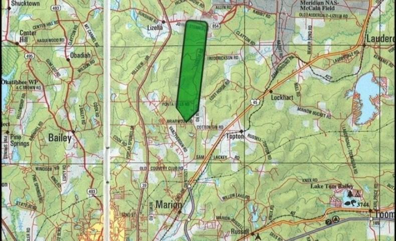138 Acres in Lauderdale County in Meridian, MS