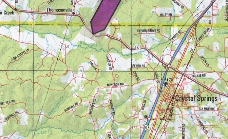 720 Acres in Copiah County in Crystal Springs, MS
