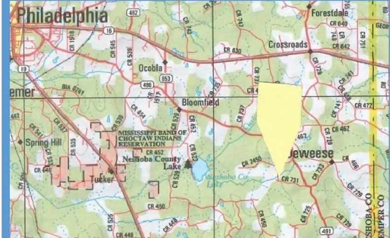 315 Acres in Neshoba County in Philadelphia, MS