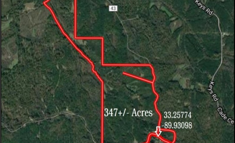 347 Acres with a Home in Carroll and Holmes County in Lexington, MS