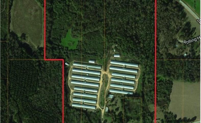 8 House Broiler Farm 90 Acres Mount Olive, MS