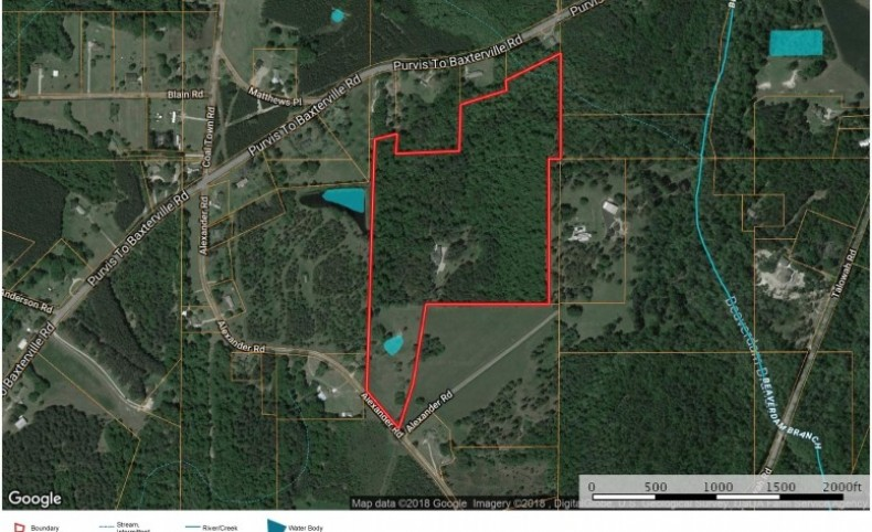 County Estate for Sale Lamar County Near Purvis MS