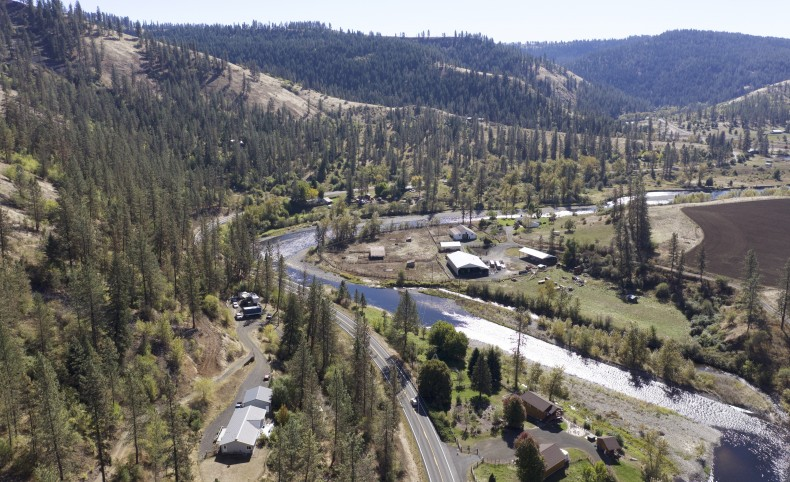 Mountain top river views